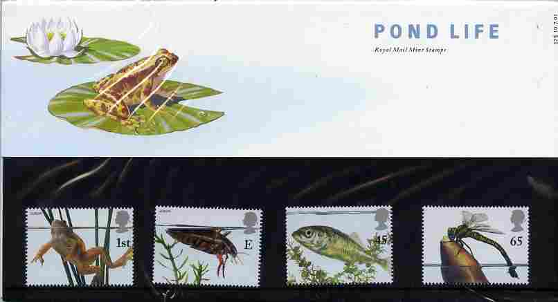 Great Britain 2001 Europa & Pond Life perf set of 4 in official presentation pack SG 2220-23