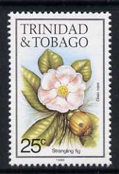 Trinidad & Tobago 1985-9 25c Strangling fig with '1989' imprint unmounted mint, SG 690