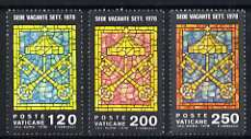 Vatican City 1978 'Vacant See' St Peter's Keys set of 3 unmounted mint, SG 705-07