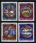 Switzerland 1968 Pro Patria (symbols of the month and signs of the Zodiac) set of 4 unmounted mint, SG 759-62