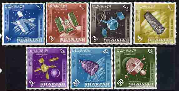Sharjah 1964 Scientific Space Research set of 7 unmounted mint, SG 51-57