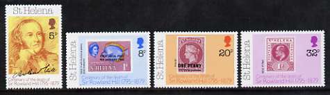 St Helena 1979 Death Centenary of Sir Rowland Hill set of 4 unmounted mint, SG 351-54