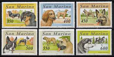 San Marino 1994 10th International Dog Show set of 6 unmounted mint, SG 1466-71                                                                                           ...