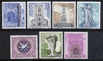 Spain 1967 Tourist Series and Int Tourist Year set of 8 unmounted mint, SG 1860-66
