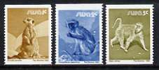 South West Africa 1980 Wildlife set of 3 perf x imperf unmounted mint, SG 366-68
