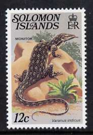 Solomon Islands 1979 12c Monitor with wmk inverted unmounted mint, SG 394EiA
