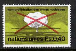 United Nations (Geneva) 1972 Non-proliferation of Nuclear Weapons unmounted mint, SG G23, stamps on nuclear, stamps on science