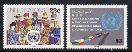 United Nations (NY) 1985 People of Various Nations set of 2 unmounted mint, SG 454-55