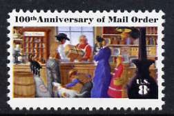 United States 1972 8c Centenary of Mail Order Business with colour shift showing