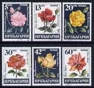 Bulgaria 1985 Roses set of 6 fine cto used, SG 3250-55