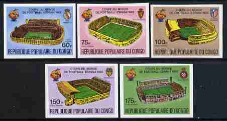 Congo 1980 World Cup Championships, Spain imperf set of 5 showing Spanish football grounds, as SG 726-30 unmounted mint