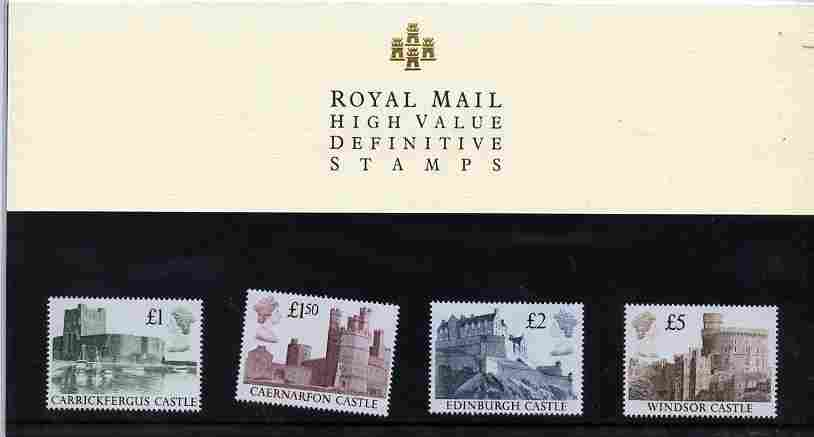 Great Britain 1988 Castle High Value set of 4 in official presentation pack SG 1410-13
