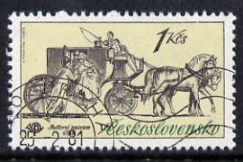 Czechoslovakia 1981 1k Mail Coach from Historic Coaches in Postal Museum set of 5, fine cto used, SG 2558
