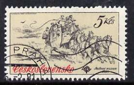 Czechoslovakia 1981 5k Mail Coach from Historic Coaches in Postal Museum set of 5, fine cto used, SG 2560