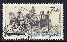 Czechoslovakia 1981 7k Coupe Carriage from Historic Coaches in Postal Museum set of 5, fine cto used, SG 2561