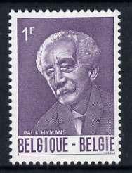 Belgium 1965 1f Birth Cent of Paul Hymans (Statesman) unmounted mint, SG 1919