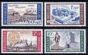 Belgium 1966 Cultural Series set of 4 historic buildings unmounted mint, SG 1978-81