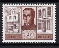 Belgium 1965 2f St Jean Berchmans commemoration unmounted mint, SG 1934, stamps on personalities, stamps on  religion, stamps on saints