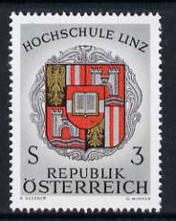 Austria 1966 Inauguration of Linz University 3s unmounted mint, SG 1492