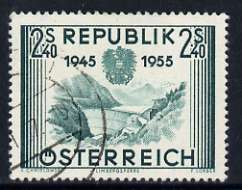 Austria 1955 Limberg Dam 2s40 from 10th Anniversary of Re-establishment of Austrian Republic set of 5, fine used SG 1273