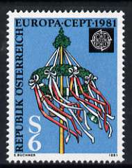 Austria 1981 Europa featuring a Maypole 6s unmounted mint, SG 1899
