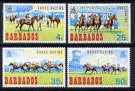 Barbados 1969 Horse Racing set of 4 unmounted mint, SG 381-84