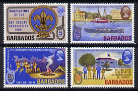 Barbados 1969 Independence of Barbados Boy Scouts Association and 50th Anniversary of Barbados Sea Scouts set of 4 unmounted mint, SG 393-96