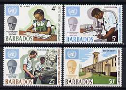 Barbados 1970 25th Anniversary of UN and International Education Year set of 4 unmounted mint, SG 415-18