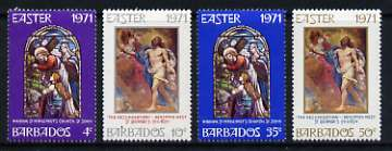 Barbados 1971 Easter set of 4 unmounted mint, SG 425-28