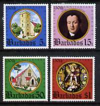 Barbados 1975 150th Anniversary of Anglican Diocese set of 4 unmounted mint, SG 526-29