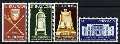 Barbados 1977 13th Regional Conference of Commonwealth Parliamentary Association set of 4 unmounted mint, SG 582-85