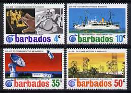 Barbados 1972 Centenary of Cable Link set of 4 unmounted mint, SG 440-43