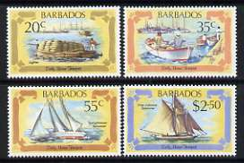 Barbados 1982 Early Marine Transport set of 4 unmounted mint, SG 701-04
