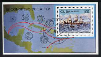 Cuba 1982 Philexfrance 82 International Stamp Exhibition m/sheet fine cto used, SG MS2822