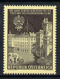 Austria 1966 Centenary of Austrian Posts & Telegraphs Administration 1s60 unmounted mint, SG 1464