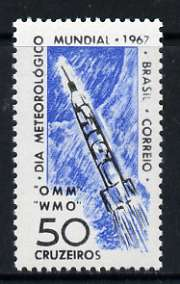 Brazil 1967 World Meteorological Day unmounted mint, SG 1161