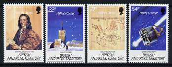 British Antarctic Territory 1986 Appearance of Halley's Comet set of 4 unmounted mint, SG 147-50