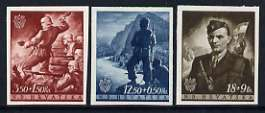 Croatia 1944 Croat Youth Fund set of 3 imperf, unmounted mint SG 131-33
