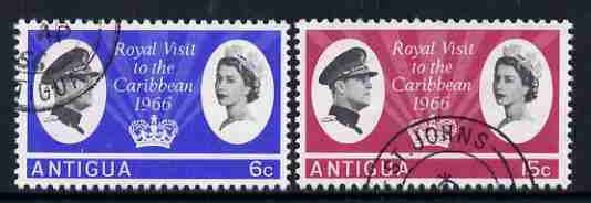 Antigua 1966 Royal Visit set of two fine used, SG 174-75