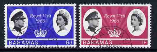 Bahamas 1966 Royal Visit set of 2 fine used, SG 271-72
