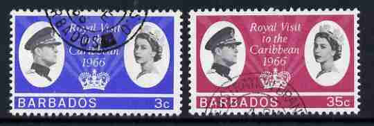 Barbados 1966 Royal Visit set of 2 fine used, SG 340-41