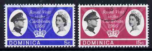 Dominica 1966 Royal Visit set of 2 fine used, SG 191-92