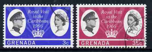 Grenada 1966 Royal Visit set of 2 fine used, SG 229-30