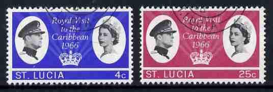 St Lucia 1966 Royal Visit set of 2 fine used, SG 220-21