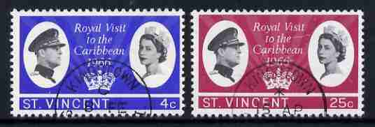 St Vincent 1966 Royal Visit set of 2 fine used, SG 250-51