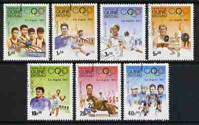 Guinea - Bissau 1983 Los Angeles Olympics (1932-1984) set of 7 fine cto used, SG 767-73