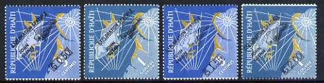 Haiti 1962 Colonel Glenn's Space Flight opt set of 4 unmounted mint, SG 795-98