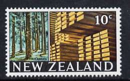 New Zealand 1967 Timber Industry 10c (from def set) unmounted mint, SG 855