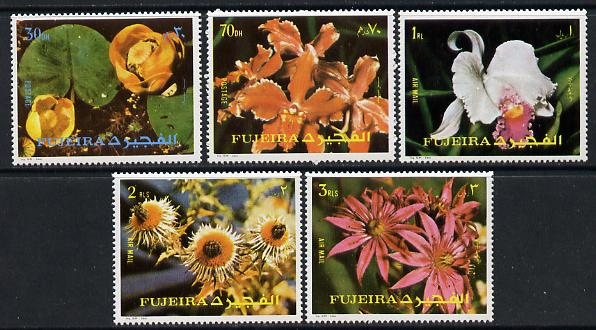 Fujeira 1972 Flowers set of 5 unmounted mint, Mi 1332-36
