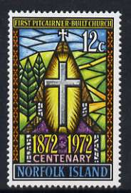 Norfolk Island 1972 Cent of first Pitcairner-built church unmounted mint, SG 128